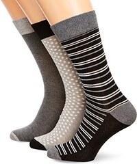 French Connection Herren Socken 3 Pack Sock in A Wrap Top Emb
