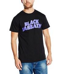 Black Sabbath Herren T-Shirt Wavy Logo Vintage