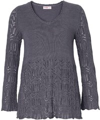 Sheego Style Ajour Pullover mit Lochmuster