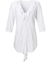 Sheego Style Bluse in Zipfeloptik