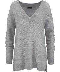 LAURA SCOTT V Ausschnitt Pullover Schräg verlaufendes Muster