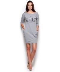 FIGL Dámské šaty M312 grey