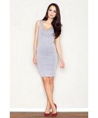 FIGL Dámské šaty M353 grey