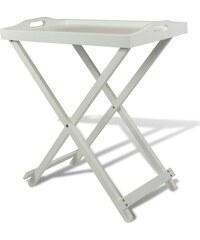 Bílý dřevěný servírovací stolek French