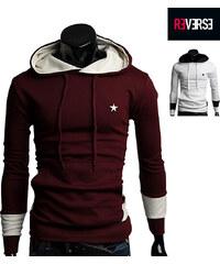 Re-Verse Sweatshirt bicolore avec étoile décorative