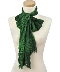 Pruhovaný šátek sz0410 zelený