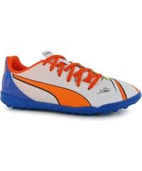 boty Puma EvoPower Pop 4 TF dětskés White/Orange