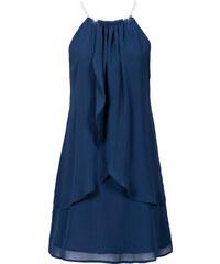 BODYFLIRT Chiffonkleid mit Collier ohne Ärmel in blau von bonprix