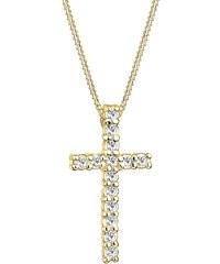 Goldhimmel Kette mit Anhänger, Kreuz mit Swarovski® Kristallen, »Hope, 0111751411«