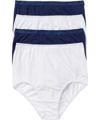 bpc selection Lot de 4 slips taille haute coton bio blanc lingerie - bonprix