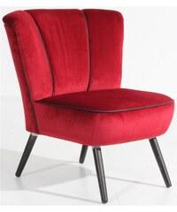 Stuhlsessel Enzo im Retrolook mit Kunstleder-Ziernaht MAX WINZER 252 (=anthrazit/schwarz),762 (=rot/schwarz)