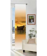Schiebegardine Seremban (1 Stück mit Zubehör) HOME WOHNIDEEN orange H/B: 245/60 cm