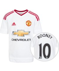 Manchester United Trikot Away Rooney 2015/2016 Kinder adidas Performance weiß 128,152,176