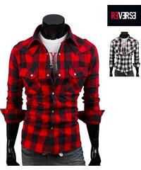Re-Verse Chemise à carreaux avec 2 poches de poitrine