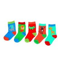 Bugga Sada 5ks dětských ponožek - potisk zvířátka