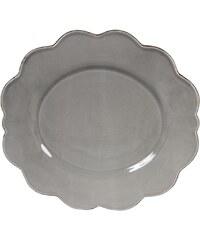Côté Table Jídelní talíř Petale grey 29 cm