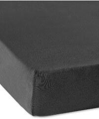 bpc living Spannbettlaken Jersey 40 cm in schwarz von bonprix