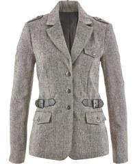 bpc selection Blazer en tweed noir manches longues femme - bonprix