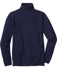 bpc bonprix collection Rollkragenpullover Regular Fit langarm in blau für Herren von bonprix
