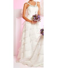 APART Dámské svatební šaty s volány bílé