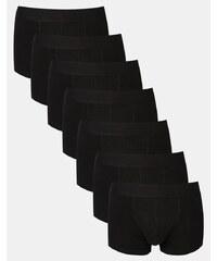 ASOS - Lot de 7 boxers taille basse - Noir - Noir