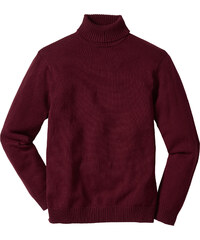 bpc bonprix collection Pull à col roulé Regular Fit rouge manches longues homme - bonprix