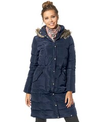 Prošívaný péřový kabát, dámský nebo dívčí zimní péřový kabát AJC (vel.38 skladem) 32 námořnická modř