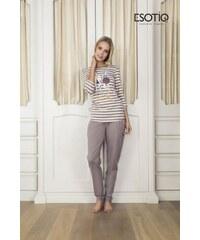 Esotiq Dotty (33536-02X) (33538-84X) Mocca Dámské pyžamo