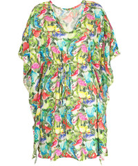 Maryssil Kaftan Fluide, Motif Flamants Roses Multicolores - Kaftan Flamingos