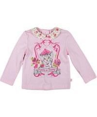 MMDadak Dívčí tričko s límečkem a kočičkou