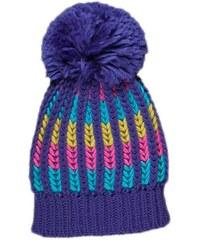MMDadak Dívčí čepice s barevnými proužky