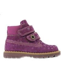 Primigi Dívčí kotníkové boty s hvězdičkami - fialové