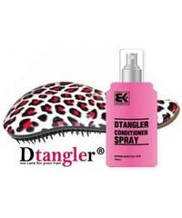 DTANGLER Akce Rozčesávací kartáč Dtangler leopard červený + Dtangler sprej 100ml
