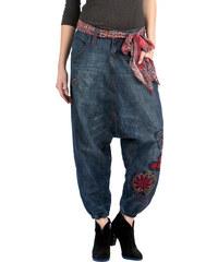 Dámské kalhoty Desigual Turkish modrá 24