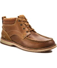 Schnürschuhe CLARKS - Mahale Mid 261024897 Tan Leather