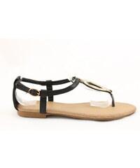 BLESS Černé sandálky 18528B