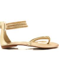 PLOP Zlaté sandálky ALISHA-12GO