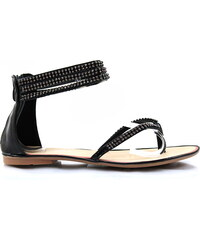 PLOP Černé sandálky ALISHA-12B