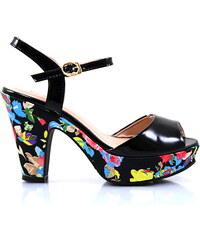 BLESS Sandálky na podpatku LT22516B