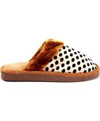 MODERN WORLD Chlupaté papuče 7001BR