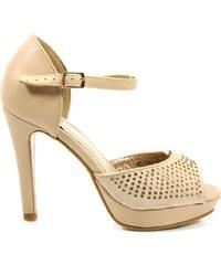 MODERN WORLD Sandálky na podpatku MD7089-2BE