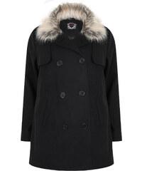 VITALITY Černý kabát s volným sedlem