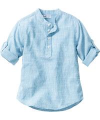 bpc bonprix collection Chemise, T. 80/86-128/134 bleu manches 3/4 enfant - bonprix