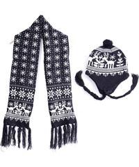 Lesara 2-teiliges Set Mütze und Schal