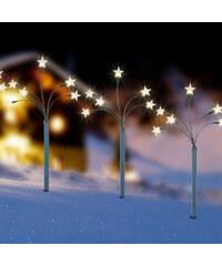 Lesara 5er-Set LED-Gartenleuchtstab Stern