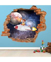 Lesara Autocollant mural 3D motif astronaute pour enfant