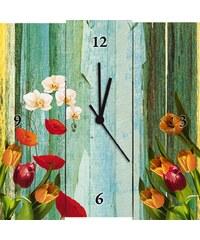 Wanduhr, Home affaire, »Jule: Bunte Blumen«, 30/30 cm