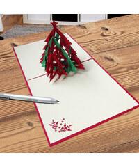 Lesara 3D-Grußkarte Weihnachtsbaum mit Stern