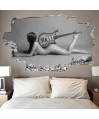 Lesara 3D-Wandsticker Gitarre