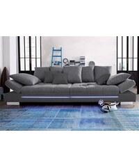 Big-Sofa wahlweise mit RGB-LED-Beleuchtung Baur 820 (=hellgrau/blau),821 (=schwarz/dunkelgrau),822 (=beige/schoko),823 (=anthrazit/anthrazit)